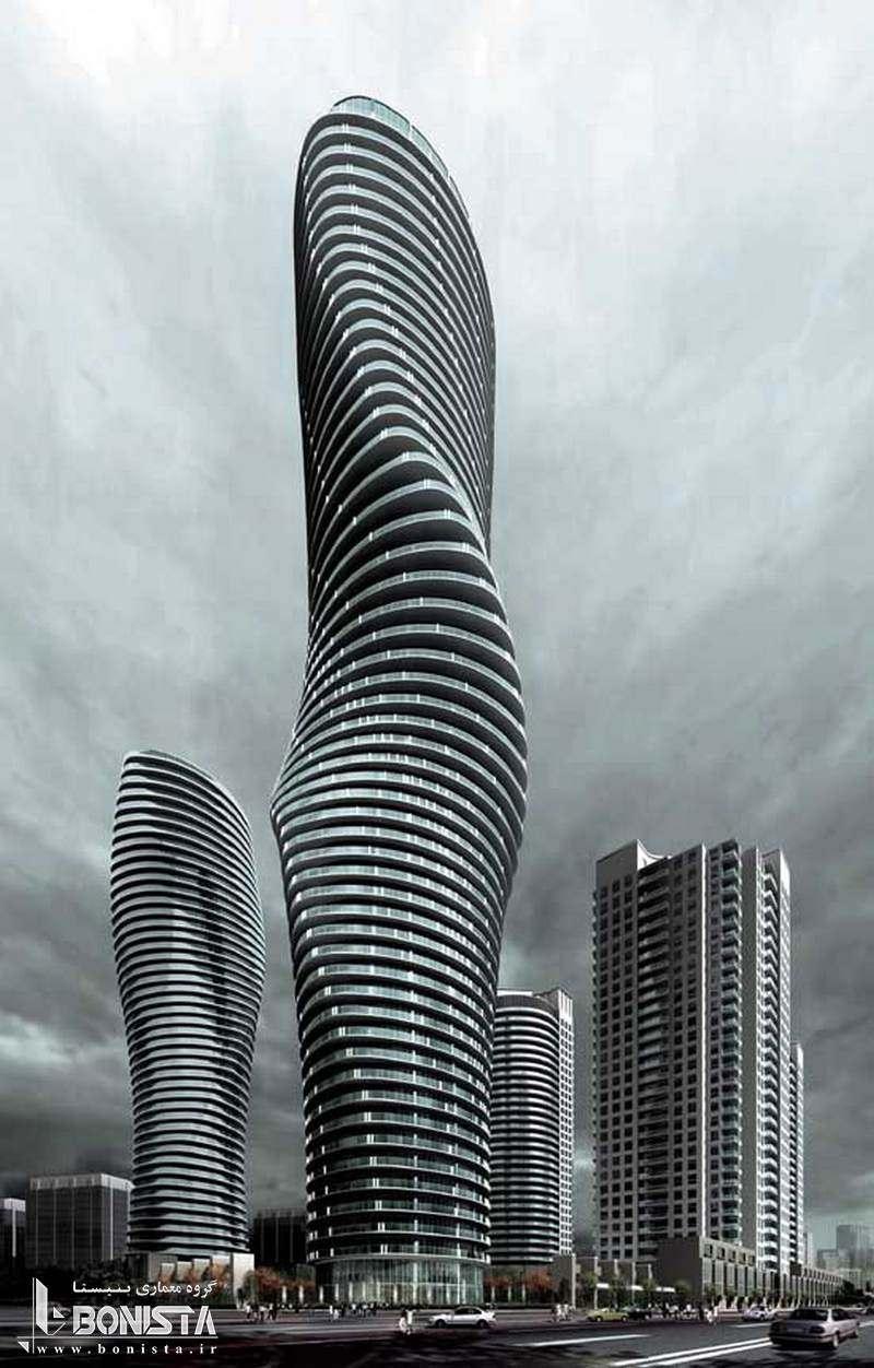 برج های دوقولوی absolute طراحی توسط MAD Architects - سال ساخت 2012 میلادی