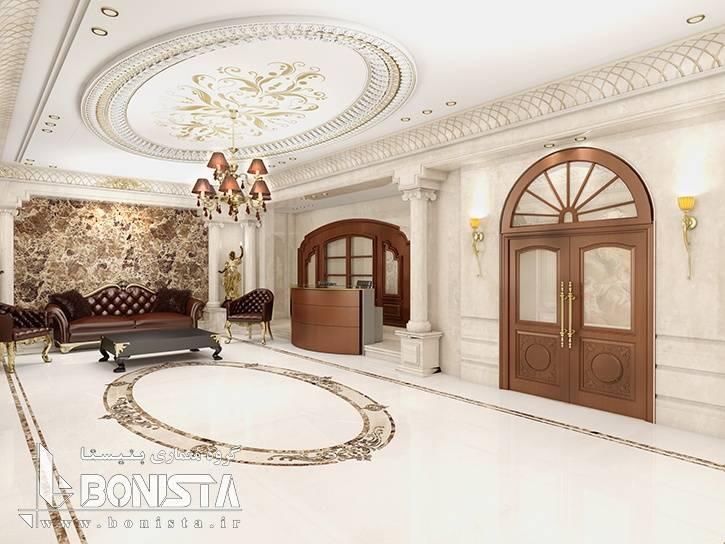 طراحی لابی ساختمان مسکونی امپریال پاسداران
