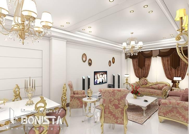 طراحی داخلی ساختمان مسکونی بوستان 6 پاسداران توسط گروه معماری بنیستا