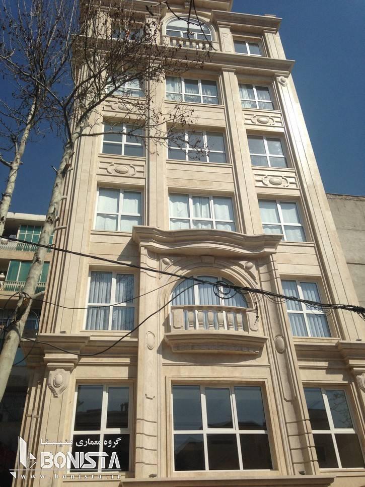 طراحی و اجرای نما ساختمان مسکونی اهورا