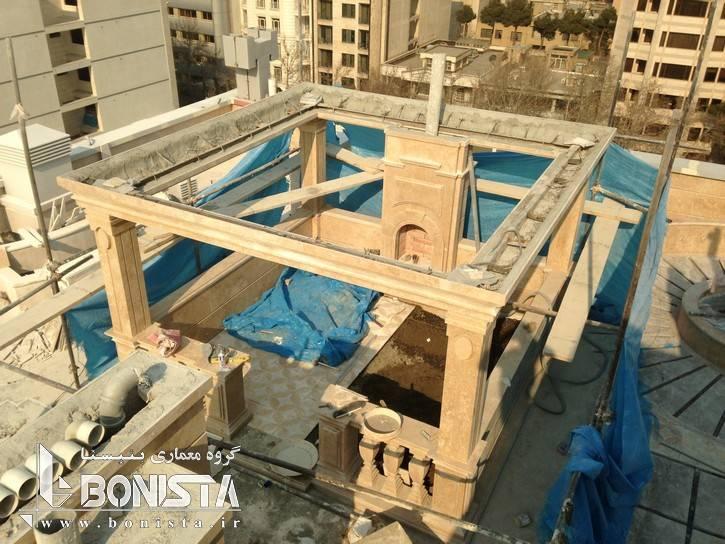 اجرای روف گاردن ساختمان مسکونی امپریال توسط گروه معماری بنیستا