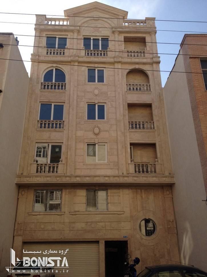 طراحی نما ساختمان مسکونی شریعتی