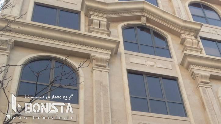 تصاویر اجرایی نما - ساختمان مسکونی آجودانیه