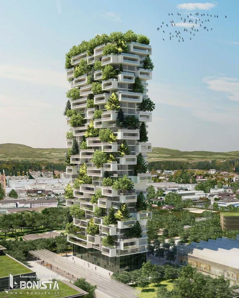 طراحی جنگل عمودی در سوئیس طراحی شده توسط Stefano Boeri