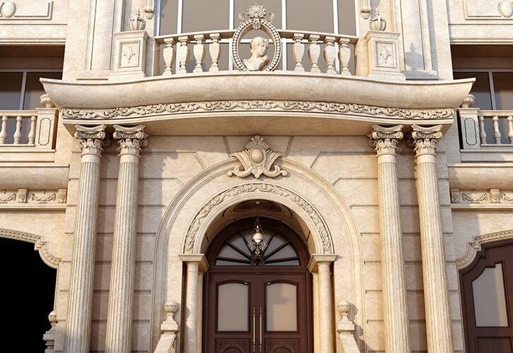 طراحی نما کلاسیک ساختمان امپریال - گروه معماری بنیستا