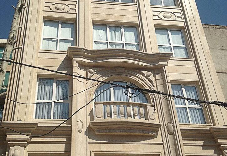 اجرای نما کلاسیک ساختمان مسکونی اهورا کاشانک