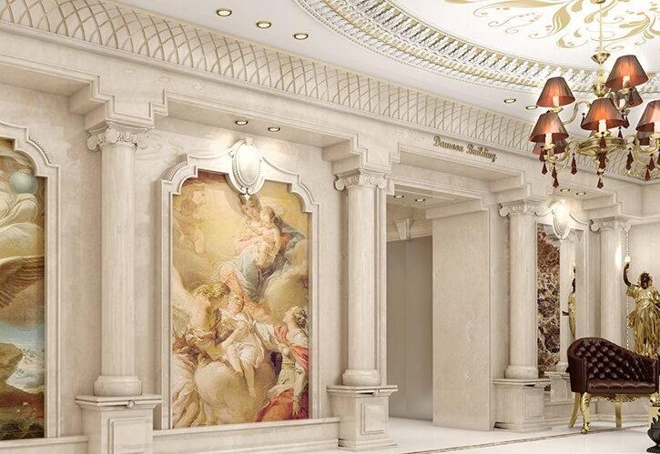 طراحی لابی کلاسیک ساختمان مسکونی امپریال پاسداران
