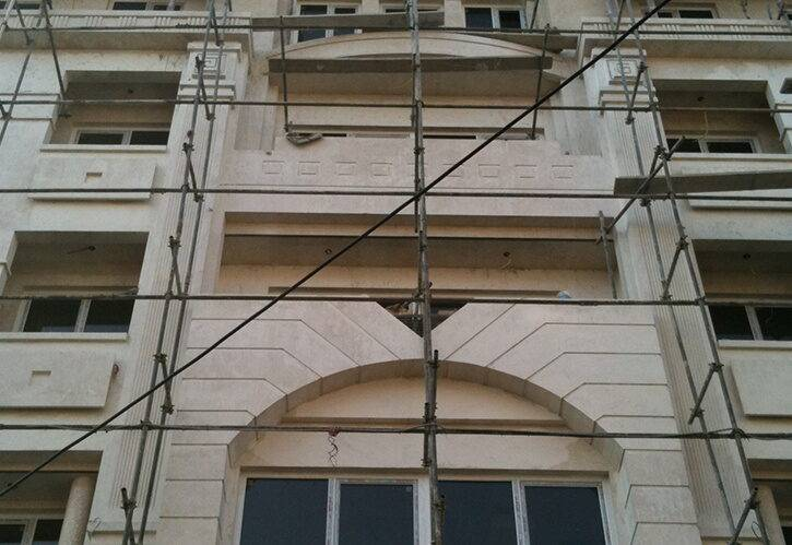 اجرای نما کلاسیک - ساختمان دامون - ساقدوش