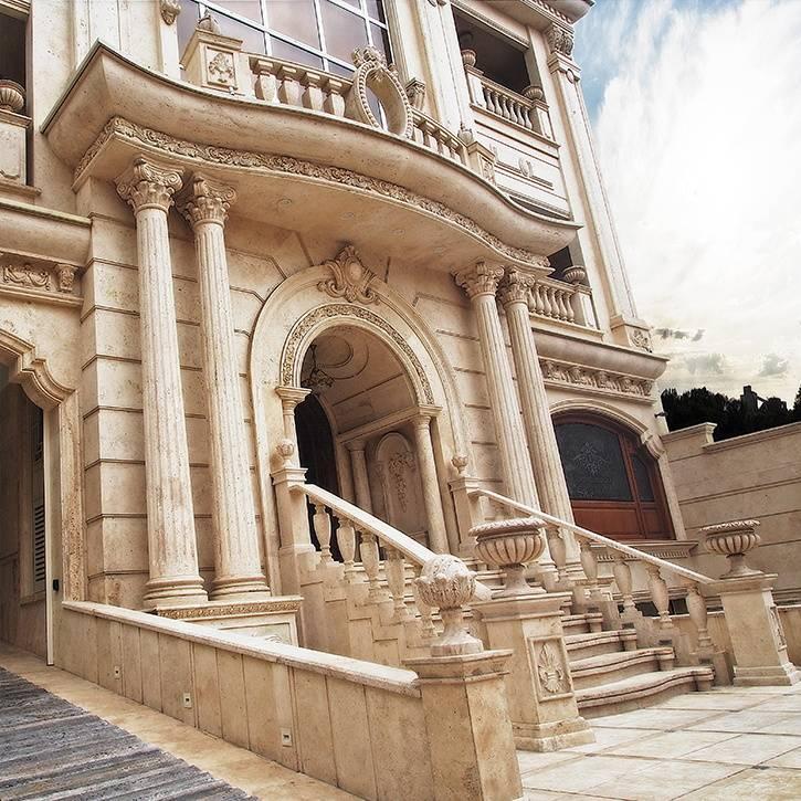 اجرای نما کلاسیک ساختمان لوکس امپریال