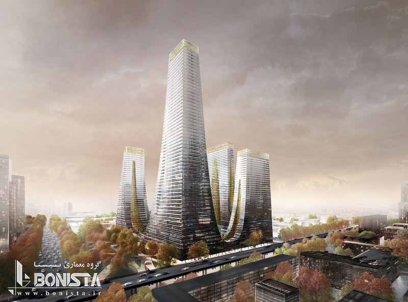 طراحی برج های کرادل توسط شرکت معماری تونکین لیو در ژنگژو چین