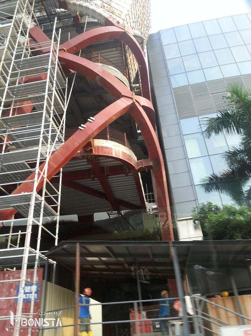 تصوبری از عملیات اجرایی هتل شهر رویاها در ماکائو