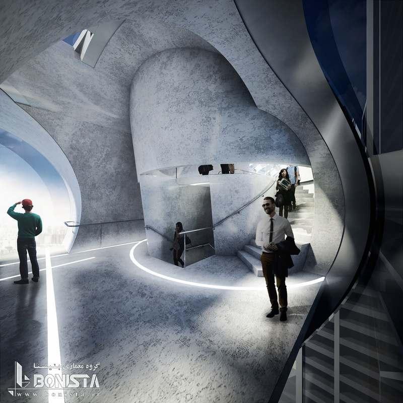 طراحی داخلی پل هوایی شنزن
