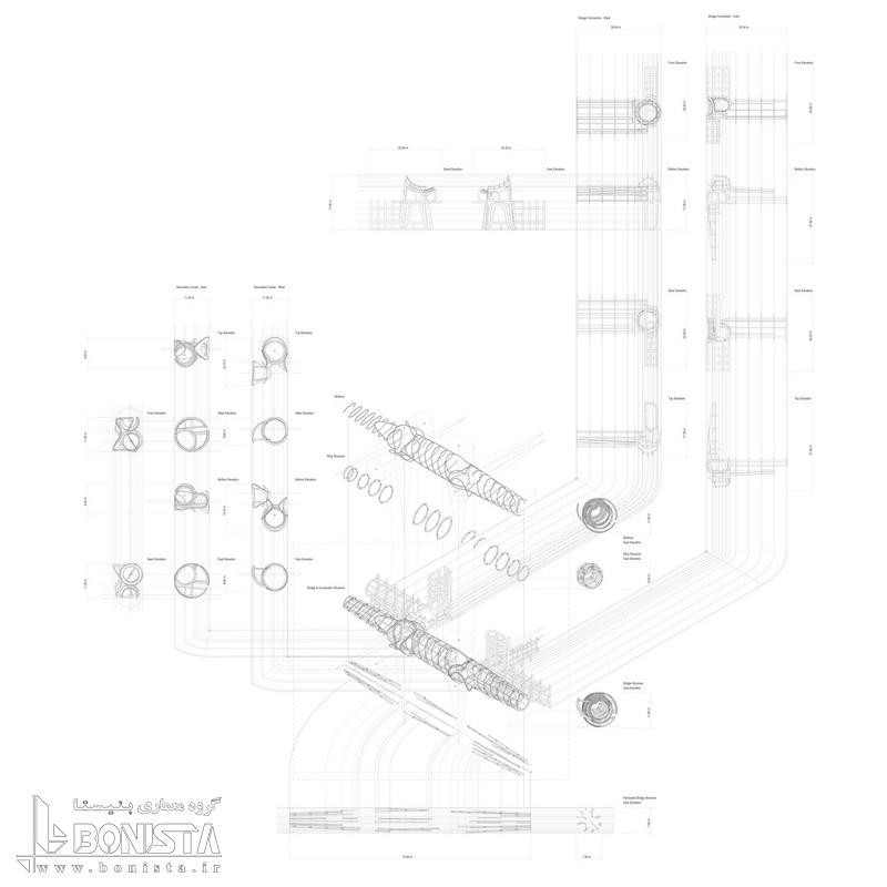 دیاگرام سازه پل هوایی شنزن