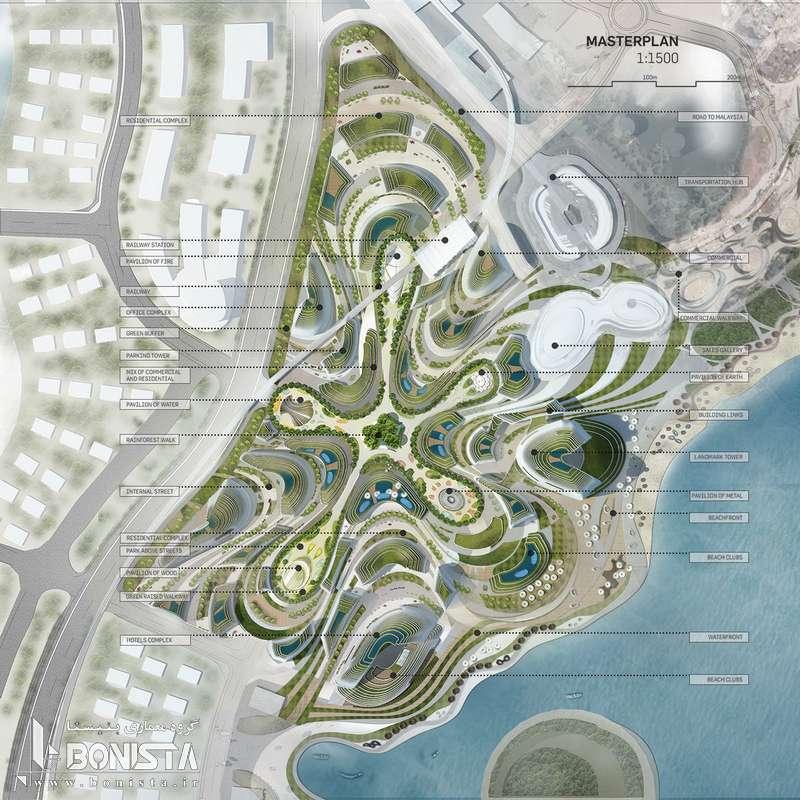 طراحی شهر جنگلی هوشمند در جنوب مالزی توسط دفتر معماری LAVA