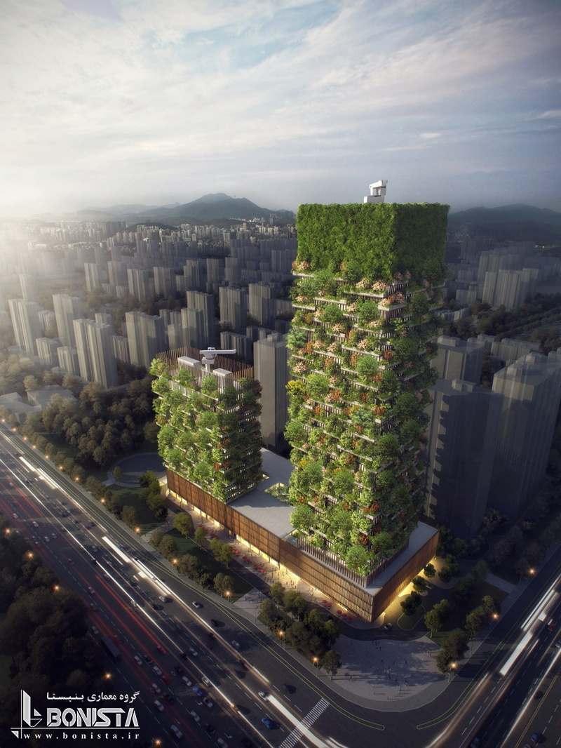 اولین جنگل عمودی آسیا در چین