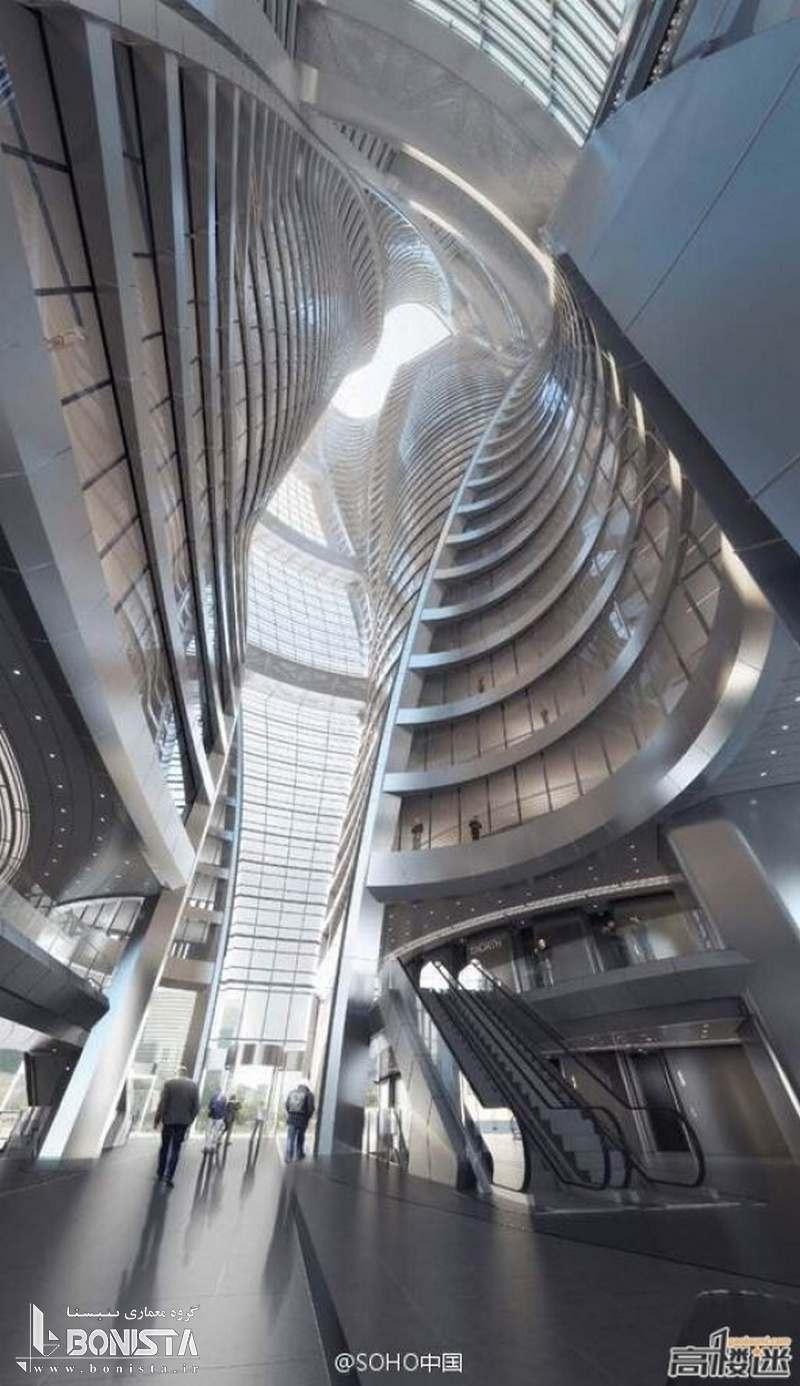 برج Leeza Soho با بلندترین آتریوم چرخان دنیا
