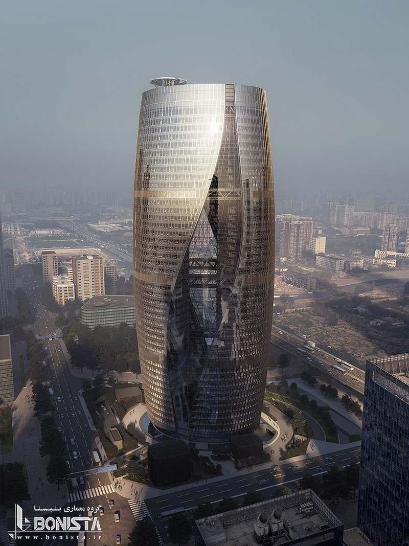 طراحی برج Leeza Soho توسط شرکت معماری ZHD در چین