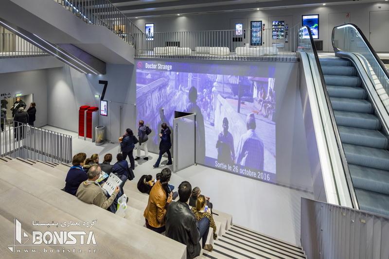 طراحی داخلی سینما Alésia