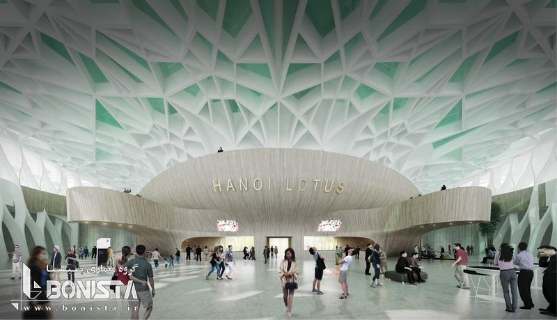 طراحی داخلی مرکز فرهنگی لوتوس در هانوی ویتنام توسط شرکت معماری دسیبل