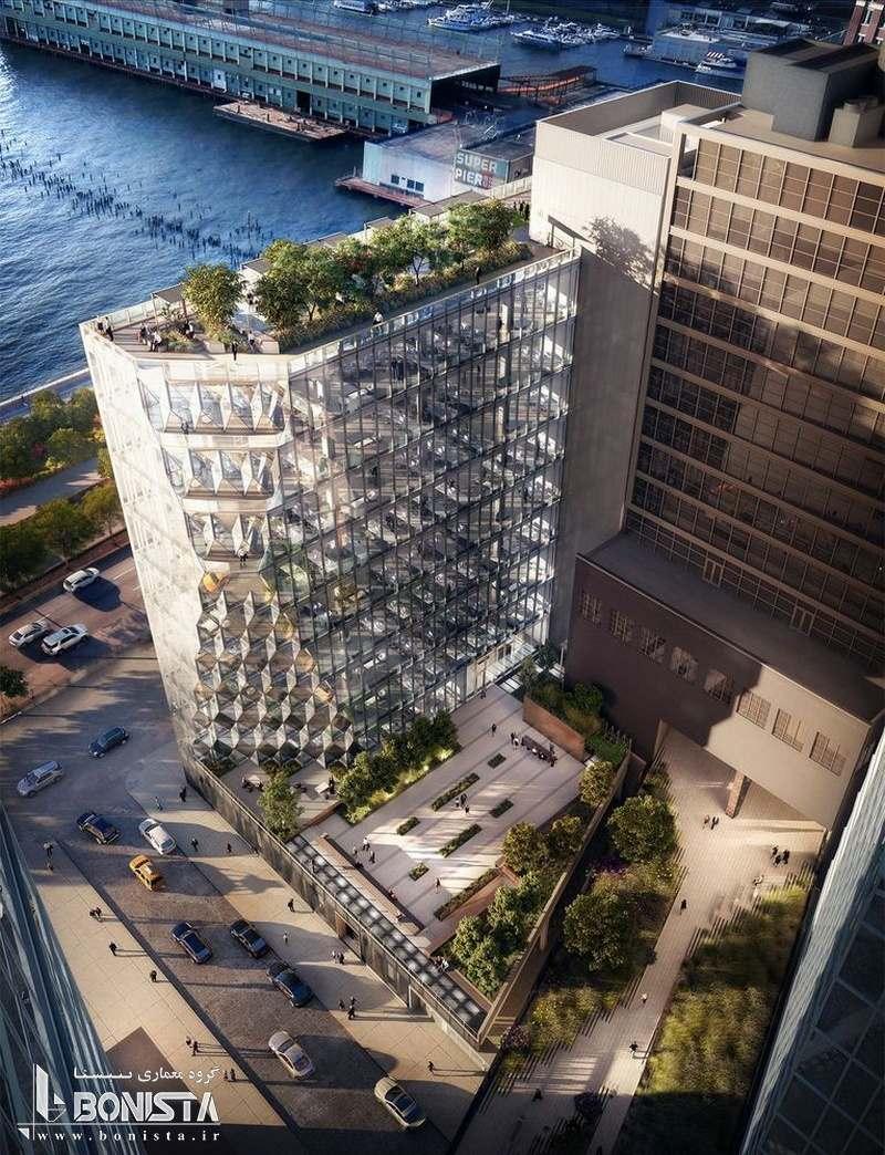 طراحی برج خورشیدی توسط استودیو معماری گانگ در نیویورک - ماکت برج - تصویر سه بعدی 2