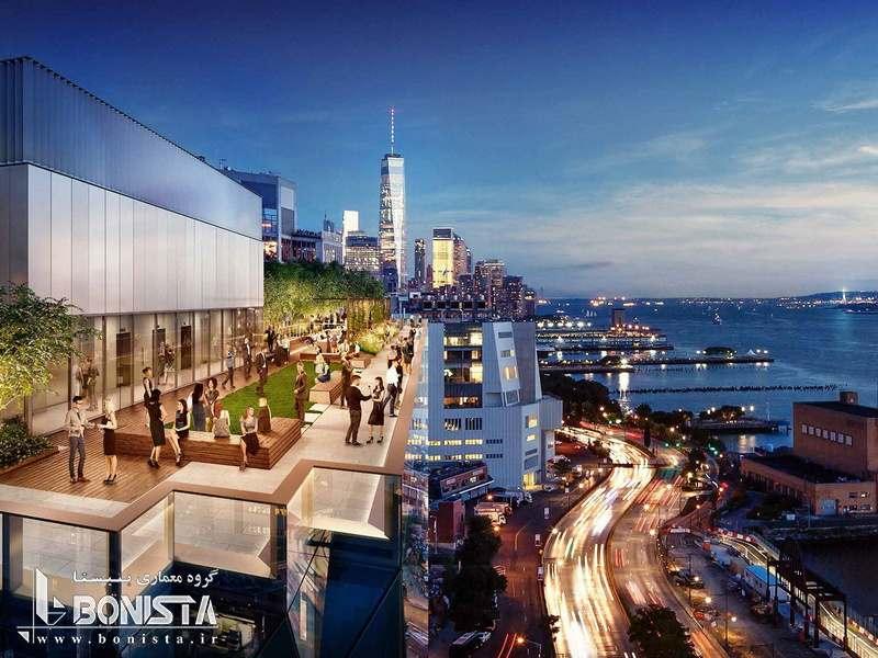 طراحی برج خورشیدی توسط استودیو معماری گانگ در نیویورک - ماکت برج - تصویری از روف گاردن