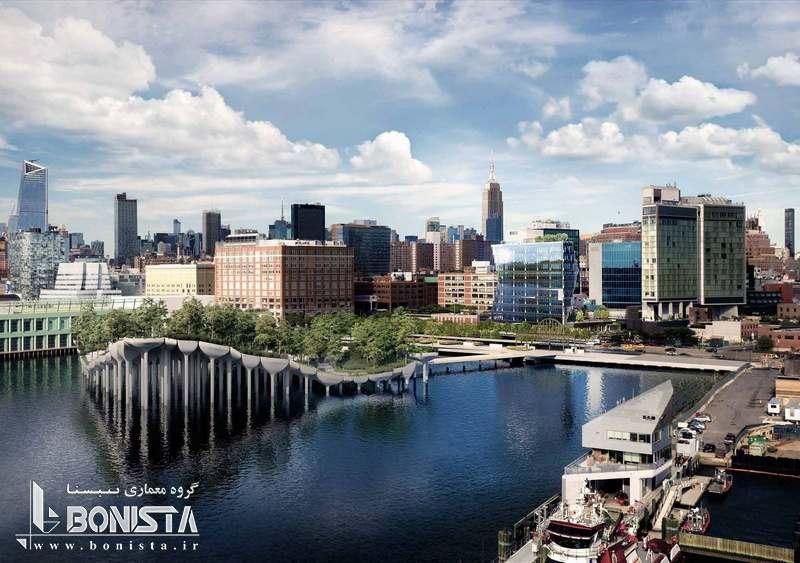 طراحی برج خورشیدی توسط استودیو معماری گانگ در نیویورک - ماکت برج - دور نمای سایت پروژه