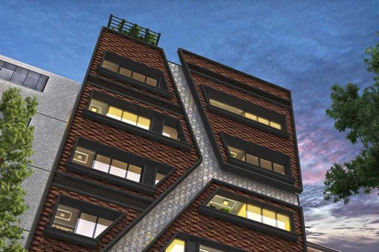 طزاحی نمای مدرن ساختمان مسکونی