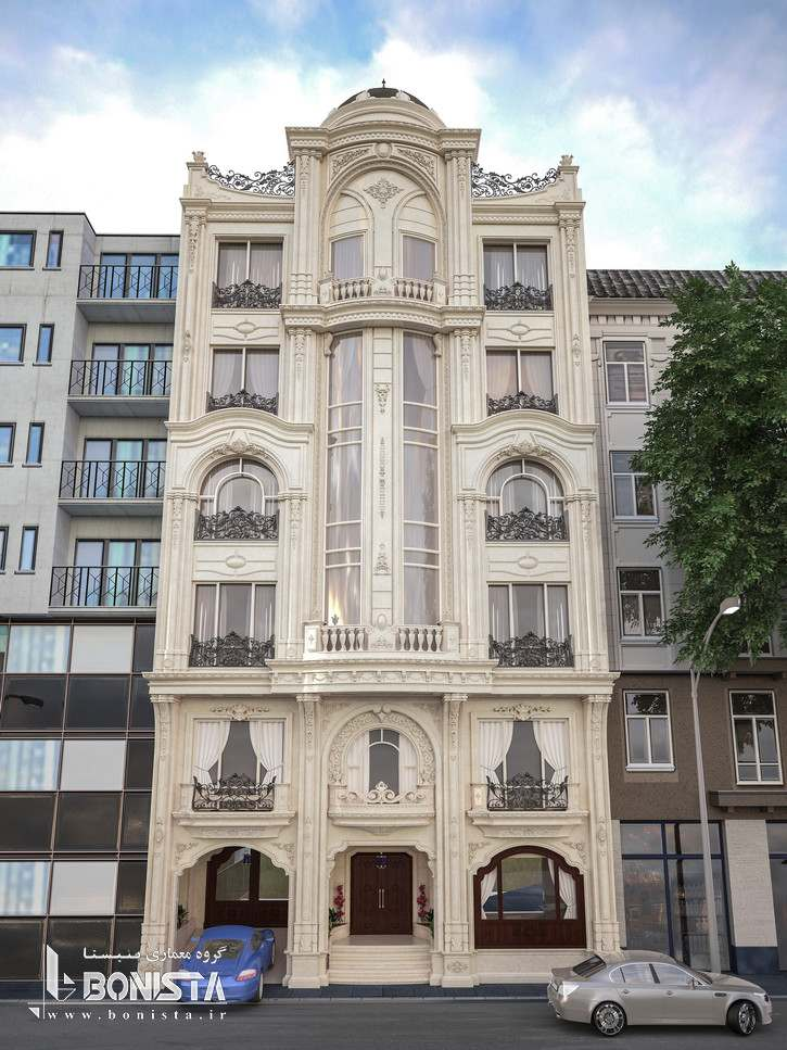 طراحی نما ساختمان مسکونی رسپینا آجودانیه