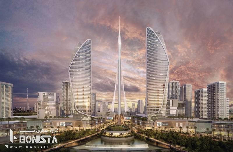برج نهر ( برج چشم انداز) دبی Dubai creek observation Tower - طراحی توسط سانتیاگو کالاتراوا