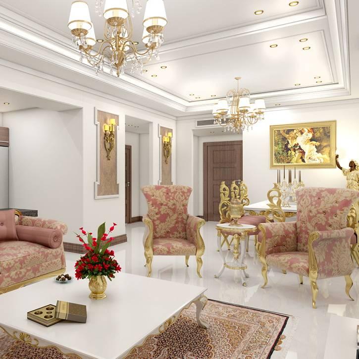 طراحی دکوراسیون داخلی ساختمان مسکونی پاسداران