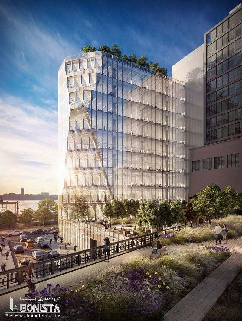 طراحی برج خورشیدی توسط استودیو معماری گانگ در نیویورک - ماکت برج - تصویر سه بعدی 3